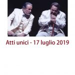 Atti unici (Pirandelliana 2019), Giardino della Basilica di Sant'Alessio, Roma, 17 luglio 2019